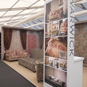 Warwick Fabrics Decorex stand 2015